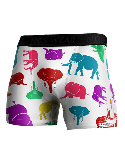 Colorful Elephants AOP Boxer Brief Dual Sided All Over Print