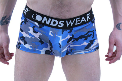 Blue Camo Men's Trunk Underwear