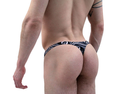 Zebra Print Thong for Men