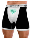 Meh Candy Heart Green - Valentines Day Mens Boxer Brief Underwear by TooLoud
