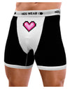 Pixel Heart Design B - Valentine's Day Mens Boxer Brief Underwear by TooLoud