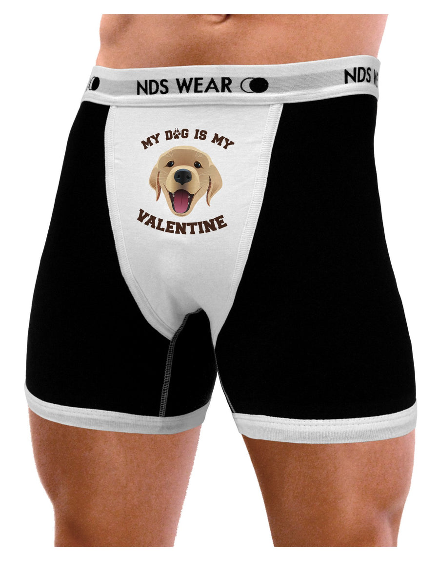 My Dog is my Valentine Gold Yellow Mens Boxer Brief Underwear