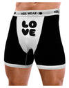 LOVE Text Mens Boxer Brief Underwear by TooLoud