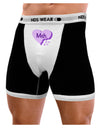 Meh Candy Heart Purple - Valentines Day Mens Boxer Brief Underwear by TooLoud