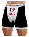 I Love Heart My Wife Mens Boxer Brief Underwear