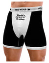 World's Okayest Brother Text Mens Boxer Brief Underwear by TooLoud