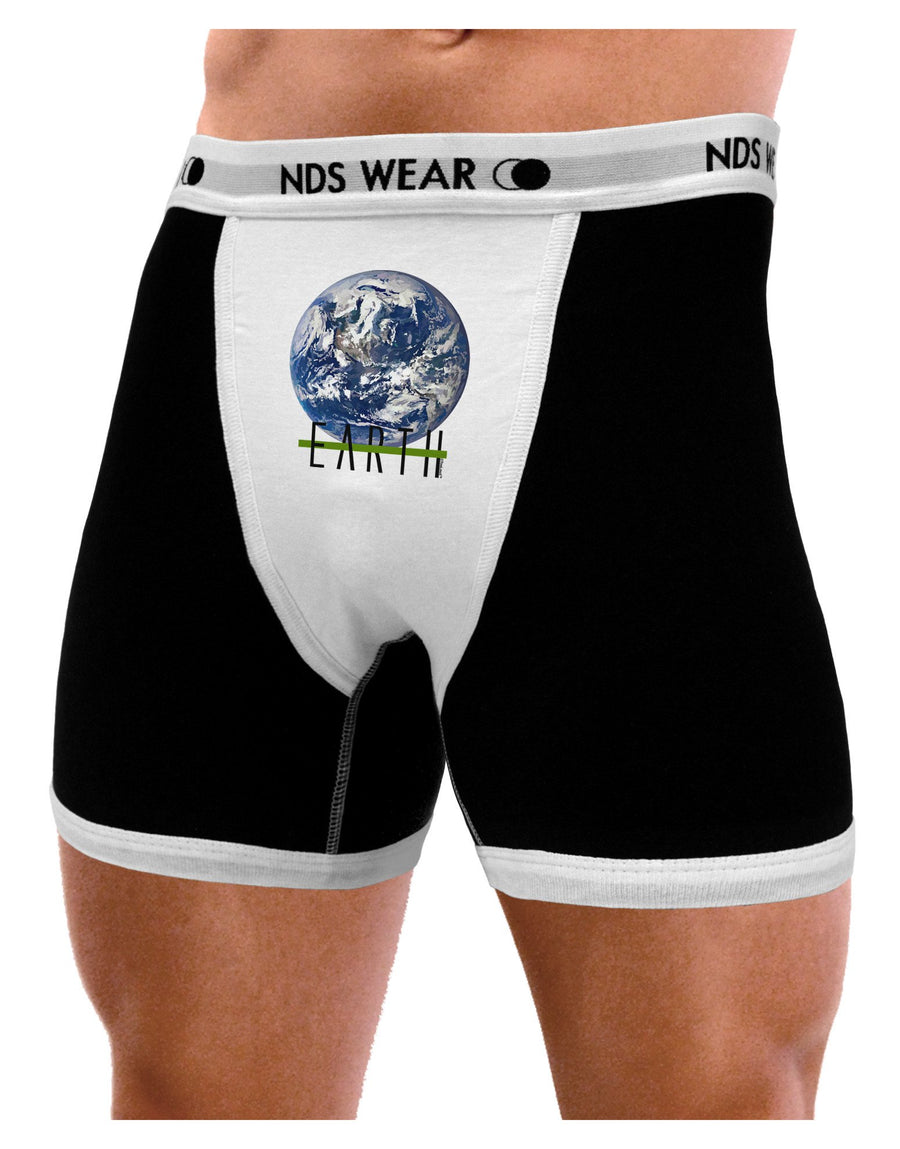Planet Earth Text Mens Boxer Brief Underwear