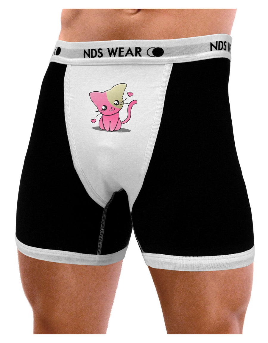 Kawaii Kitty Mens Boxer Brief Underwear