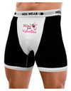 TooLoud Wine Is My Valentine Mens Boxer Brief Underwear