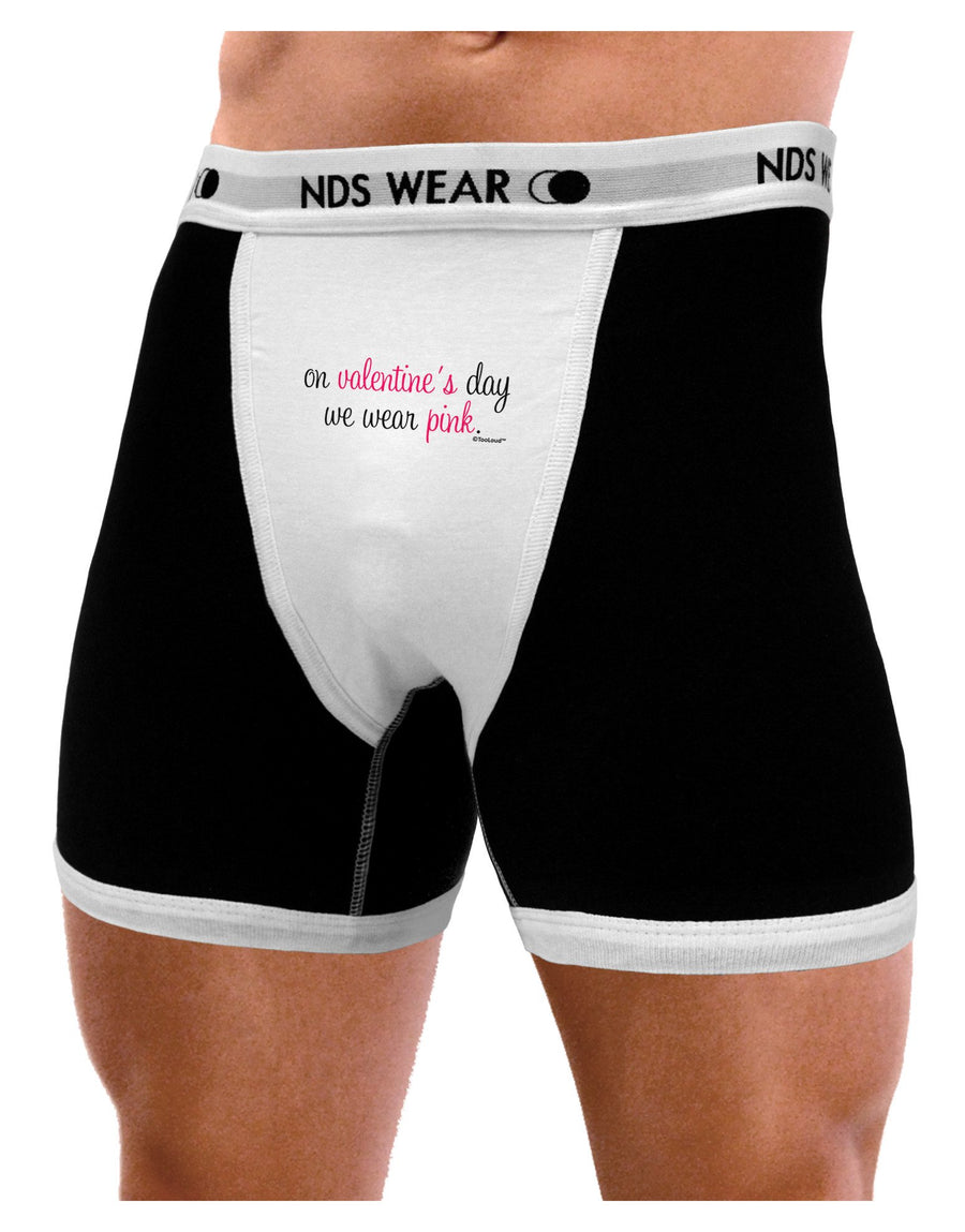 On Valentine's Day We Wear Pink Mens Boxer Brief Underwear by TooLoud