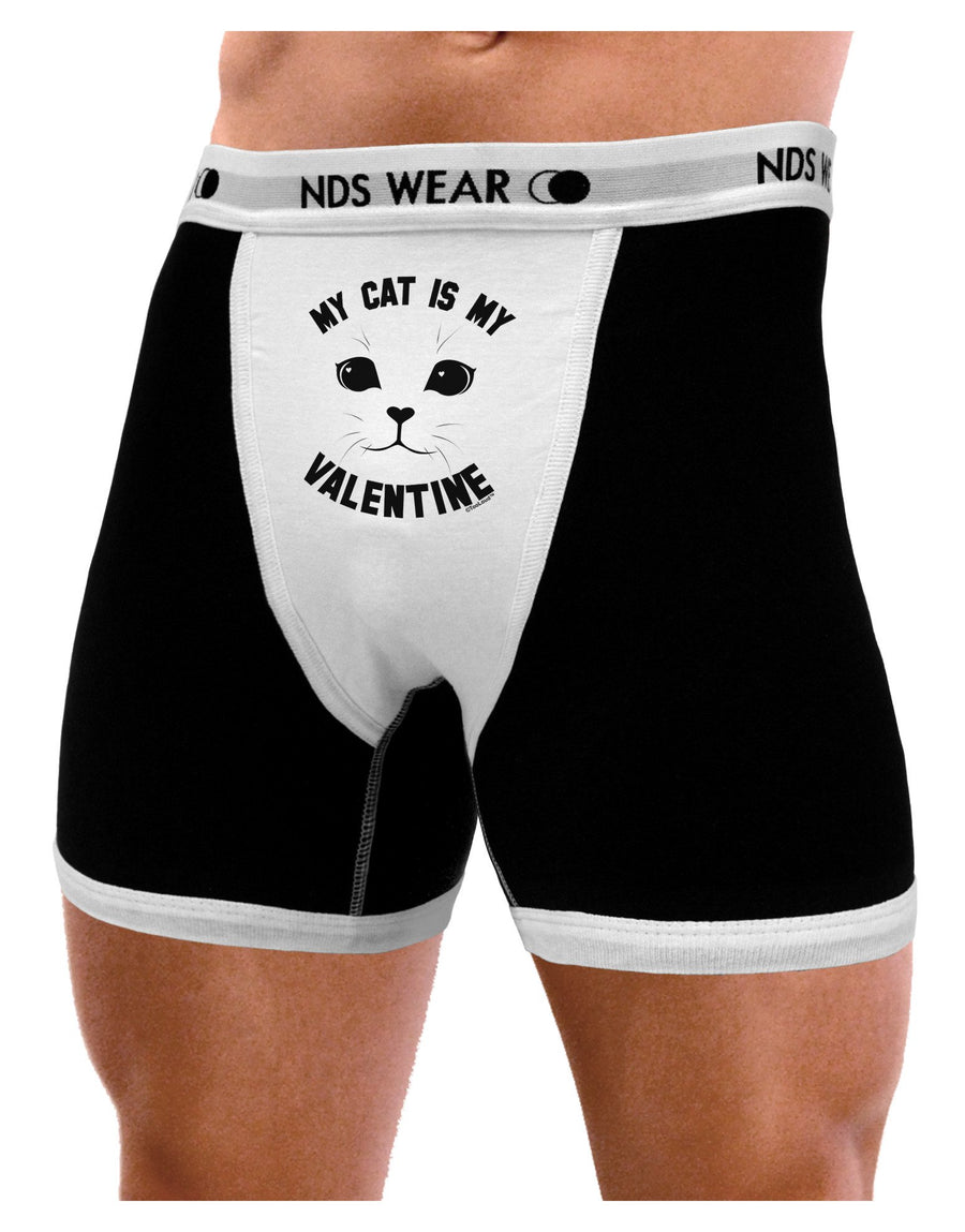 My Cat is my Valentine Mens Boxer Brief Underwear by NDS Wear