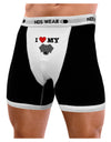 I Heart My - Cute Black Labrador Retriever Dog Mens Boxer Brief Underwear by TooLoud