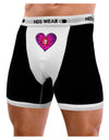 Water Droplet Heart Magenta Mens Boxer Brief Underwear by TooLoud