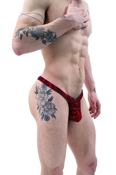 Red Black Cappuccino Men's Thong