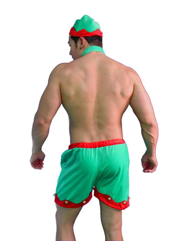 Man's Elf Costume, Sexy Holiday Wear for Men