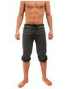 NDS Wear Mens Drawstring Pilates Capri Pant - Charcoal