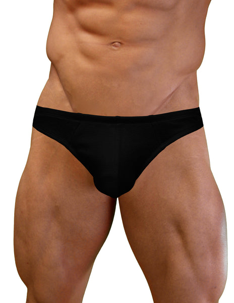 NDS Wear Mens Stretch Waffle Cotton Thong - White
