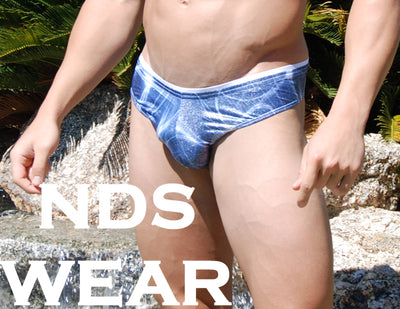Men's Brazilian Blue Sparkle Thong