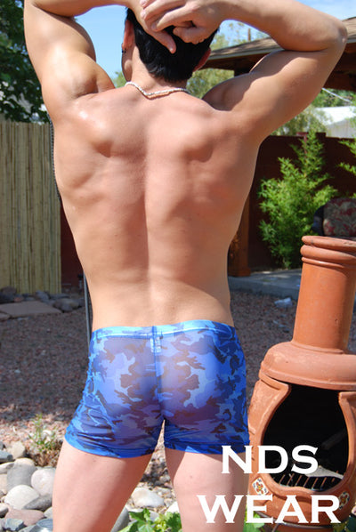 Sheer Blue Camo Boxer