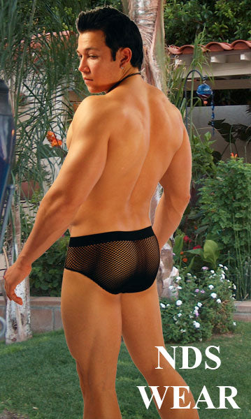 Seamless Mesh White Brief