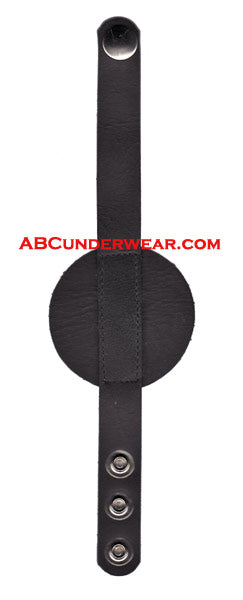 Leather Disc 3 Snap Bracelet