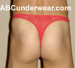 Sheer Roja Red Thong - Clearance