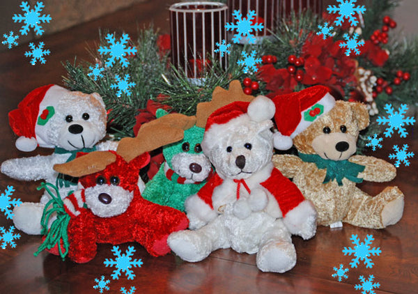 Christmas Plush Bears and Friends
