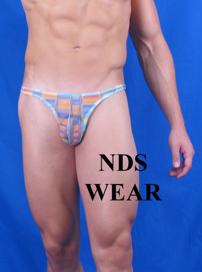 Sheer Multi-Graphic Men's Thong
