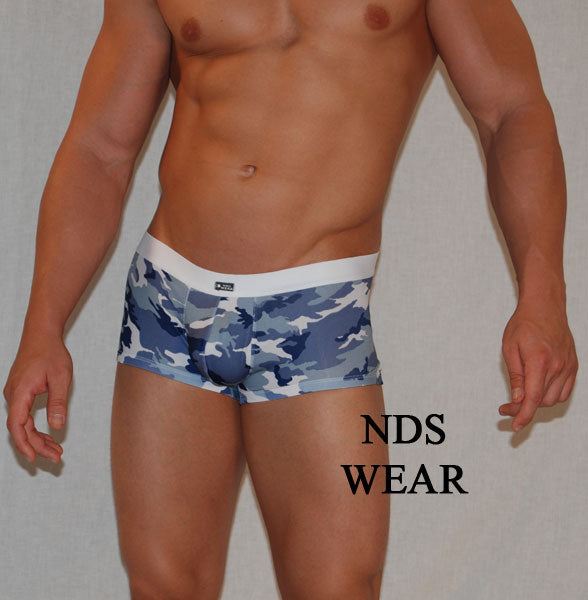 Blue Grey Camo Hot Short