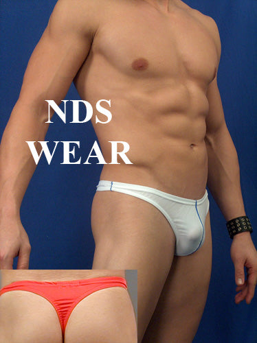 Men's Contrast Thong Swimsuit