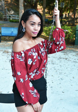 Printed Floral Off-Shoulder Top