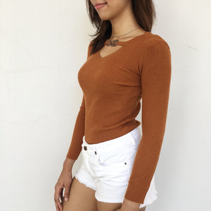 Knitted Choker Top