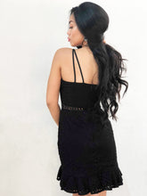 Hollow-Cut Fish-tail Dress [Premium]