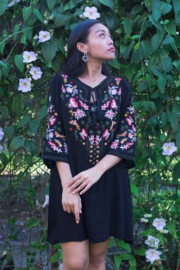 Embroidered Bohemian Shift Dress