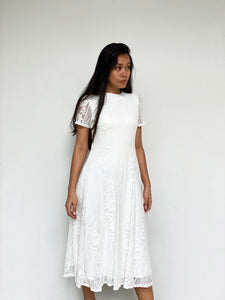 Lace Midi Swing Dress