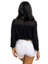 Sequin-Pannelled Chiffon Top