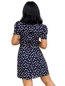 Floral Waist-Tie Shift Dress