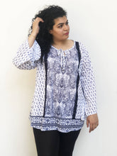 Parsley Lace Panelled Tunic Blouse
