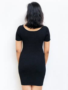Basic Knitted Buttoned Dress [BACKORDER]