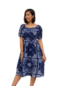 Paisley Printed Two-Way Midi