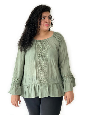 Crochet Panelled Tunic Top [BACKORDER]