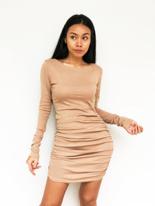 Ruched Goddess Bodycon Dress