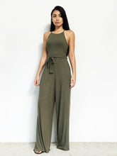 Knitted Racer-Back jumpsuit
