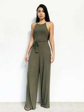 Knitted Racer-Back jumpsuit [BACKORDER]