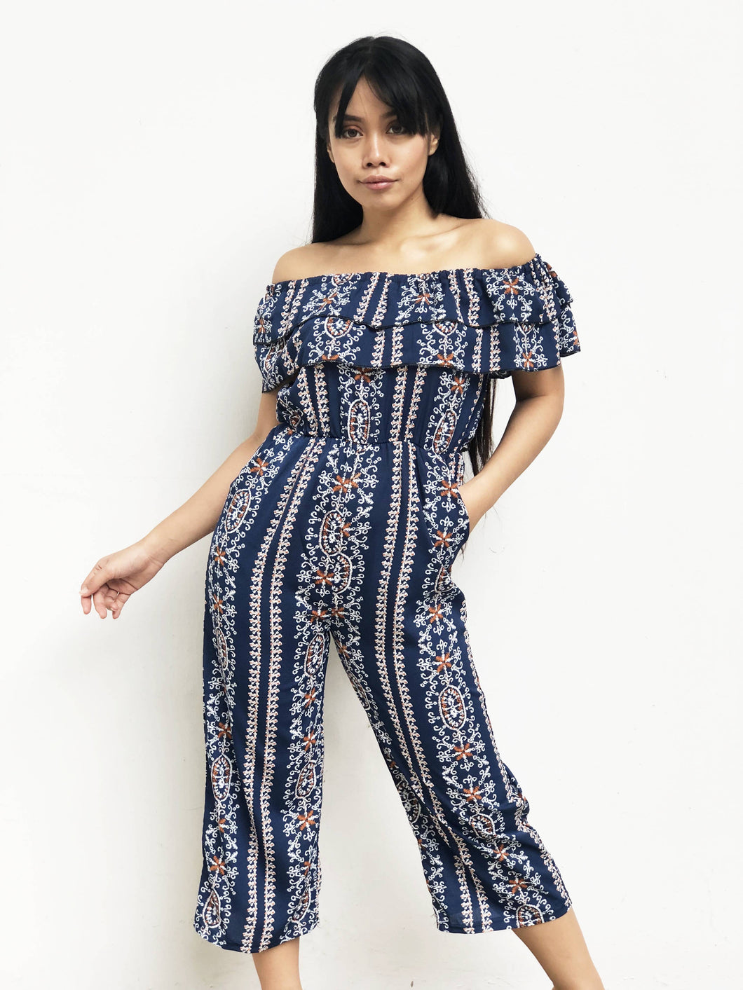 Parsley Print Midi Jumpsuit