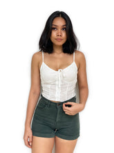 Eyelet Cropped Bustier