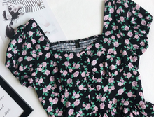 Square-Neck Floral Printed Top