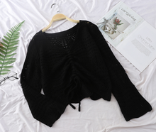 Knitted Pull-Up crop Top
