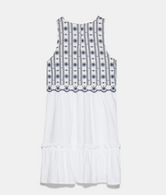 Embroidered Faux Vest Dress