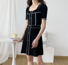French Retro Knitted Dress